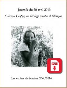 Cahiers de Sentiers numéro 4 sur Laurence Louppse